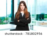 young businesswoman in her... | Shutterstock . vector #781802956