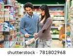young couple shopping in a...   Shutterstock . vector #781802968