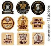 vintage beer bottle labels.... | Shutterstock . vector #781806046