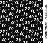 xoxo brush lettering signs...   Shutterstock .eps vector #781811836