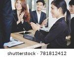 business congratulation.asian... | Shutterstock . vector #781812412