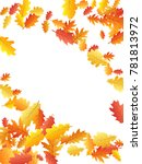 corners of colorful oak leaf... | Shutterstock .eps vector #781813972