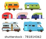 campers cars set. different... | Shutterstock . vector #781814362