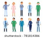 healthcare people in hospital.... | Shutterstock . vector #781814386