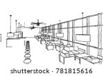 restaurant interior design... | Shutterstock .eps vector #781815616