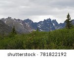 Small photo of Landscape along Dempster Highway near Tombstone Territorial Park, Yukon Territory, Canada