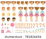 mascot creation kit of little... | Shutterstock . vector #781826656