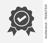 certified or approved vector... | Shutterstock .eps vector #781827325