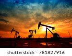 the oil pump  industrial... | Shutterstock . vector #781827916