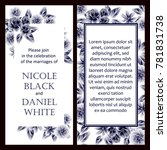 romantic invitation. wedding ... | Shutterstock .eps vector #781831738