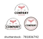 fork and the sausage food on... | Shutterstock .eps vector #781836742