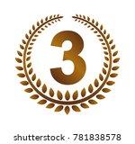 wreath frame ranking... | Shutterstock .eps vector #781838578