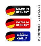 made in germany label sign and... | Shutterstock .eps vector #781843786