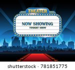 gold brightly theater glowing... | Shutterstock .eps vector #781851775