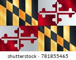 the usa state of maryland state ... | Shutterstock . vector #781855465