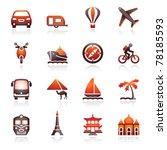 travel icons for web.  black... | Shutterstock .eps vector #78185593