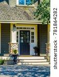 house entrance with doorway. | Shutterstock . vector #781864282