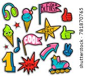 set of comics elements  hands... | Shutterstock .eps vector #781870765