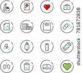 line vector icon set   baby... | Shutterstock .eps vector #781872838