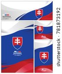 slovakia flag abstract colors... | Shutterstock .eps vector #781873192