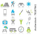 camping icons   Shutterstock .eps vector #78187861