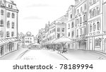 old town   illustration sketch | Shutterstock . vector #78189994