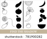 color objects of vegetables ... | Shutterstock .eps vector #781900282