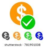 valid dollar coin icon. vector...