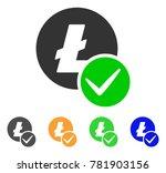 valid litecoin icon. vector... | Shutterstock .eps vector #781903156