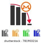 monero falling acceleration... | Shutterstock .eps vector #781903216