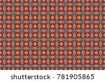 raster seamless abstract... | Shutterstock . vector #781905865