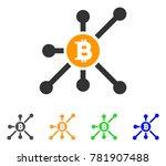 bitcoin node icon. vector... | Shutterstock .eps vector #781907488