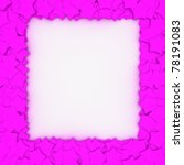 Empty frame with magenta stars, design element - stock photo