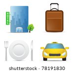 travel icons. highly detailed... | Shutterstock .eps vector #78191830