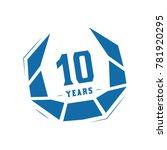 10 years design template....   Shutterstock .eps vector #781920295