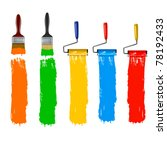 paint brush and paint roller... | Shutterstock .eps vector #78192433