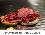 kumru is a turkish sandwich on... | Shutterstock . vector #781926076