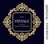 the original monogram. elegant...   Shutterstock .eps vector #781926385