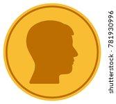 man head profile golden coin... | Shutterstock .eps vector #781930996