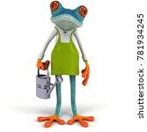 fun frog   3d illustration | Shutterstock . vector #781934245