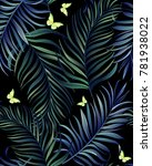 seamless tropical vector... | Shutterstock .eps vector #781938022