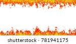 fire flames isolated on white... | Shutterstock . vector #781941175
