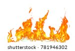 fire flames isolated on white... | Shutterstock . vector #781946302
