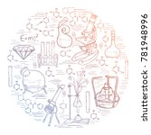hand drawn science vintage... | Shutterstock .eps vector #781948996