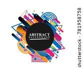 abstract geometric design...   Shutterstock .eps vector #781958758