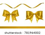 set of red decoration ribbon... | Shutterstock . vector #781964002