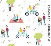 various couples in love. hand... | Shutterstock .eps vector #781964935