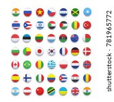 world flags . vector icon | Shutterstock .eps vector #781965772