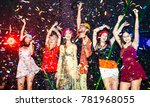 night party groups of friends...   Shutterstock . vector #781968055
