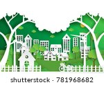 nature landscape background... | Shutterstock .eps vector #781968682